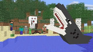 Monster School : Fishing Challenge - Minecraft Animation