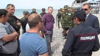 Снос заборов на пляжах Крыма