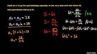 Vsota geometrijske vrste 6