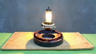 Free energy light bulb using magnet