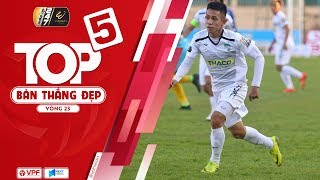 Top 5 bàn thắng vòng 23 V.League 2019 | Mãn nhãn với những cú sút xa đẳng cấp | VPF Media