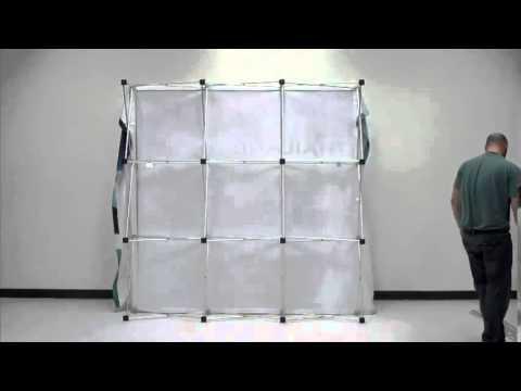 8ft VBurst Backlit Popup Display