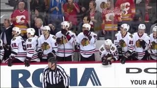 Ray Emery saves 2 Feb 2013 Chicago Blackhawks vs Calgary Flames NHL Hockey