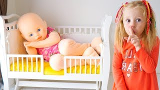 Nastya وحلم مضحك عن دمية طفل عملاقة فيديو للأطفال -