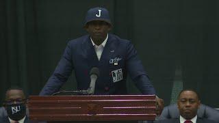 Jackson State introduces Deion Sanders as next head football coach