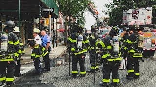 FDNY - Brooklyn All Hands Box 27 - Fire In A Building Under Construction In Greenpoint, Brooklyn