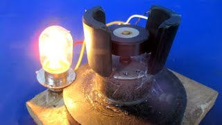 Handmade Free energy with magnets & DC motor - New Technology Science project experiment at home
