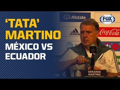 La conferencia de 'Tata' Martino previo al México vs. Ecuador