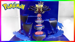 Recreating Pokemon Platinum Distortion World with Giratina into a 3D Diorama Cube Papercraft