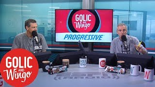 Golic and Wingo confront Stugotz over beef with The Dan Le Batard Show | Golic & Wingo | ESPN