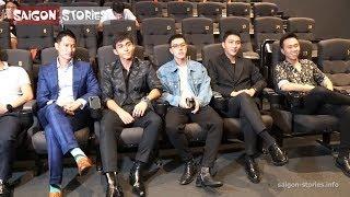 Dàn cast SAO NHẬP NGŨ dở khóc dở cười khi xem lại chương trình | Họp báo SAO NHẬP NGŨ 2019