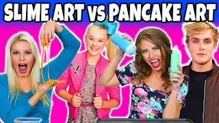 Slime Art vs Pancake Art Challenge. We Try Art of YouTubers Totally TV