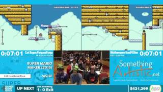 Super Mario Maker Hard Race by Various Runners in 24:37 - Awesome Games Done Quick 2016 - Part 85