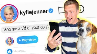 I sent a DM to 100 CELEBRITIES on instagram gave $10,000 for responding! *it worked*