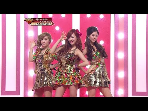 【TVPP】SNSD-TTS - Twinkle, 소녀시대-태티서 - 트윙클 @ Debut Stage, Music Core Live