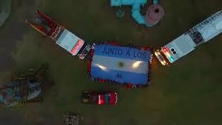 Homenaje de Bomberos a los 44 marinos del ARA San Juan