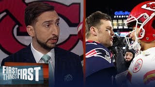 Nick Wright discusses if Mahomes will eventually surpass Brady as GOAT | NFL | FIRST THINGS FIRST