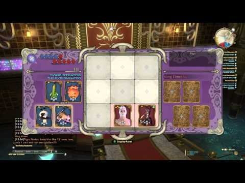 FFXIV Triple Triad - Getting Bahamut with Low Level Cards