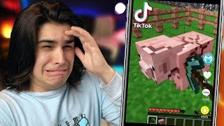 Reacting to CURSED MINECRAFT TIKTOKS... 😭