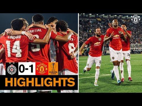 Highlights   Partizan Belgrade 0-1 Manchester United   UEFA Europa League