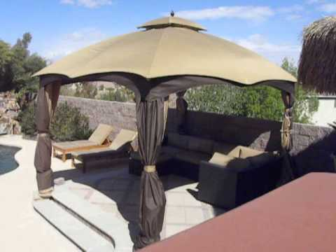 Allen And Roth 10 X 12 Gazebo In Severe Wind Youtube