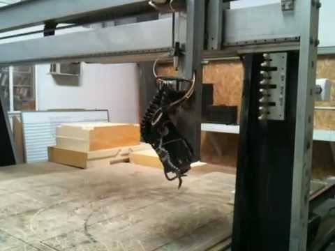 Large gantry CNC mill, 4th axis rotary
