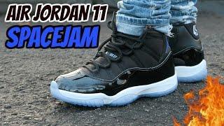 """""""SPACEJAM"""" AIR JORDAN 11 REVIEW AND ON-FOOT"""