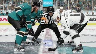 NHL 18 San Jose Sharks vs Los Angeles Kings Gameplay (Full Game)