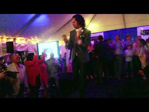 "Constintine Maroulis sings ""Don't Stop Believin'"" @ 2014 Behind the Seams Fashion Show"