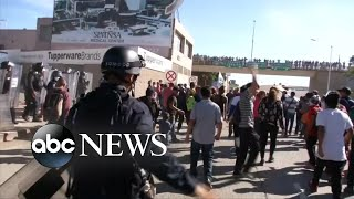 US agents reportedly using tear gas at the Tijuana border
