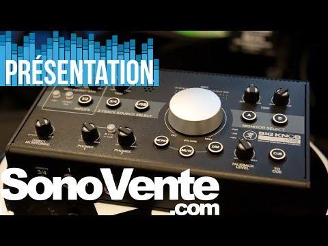 Vidéo Présentation du contrôleur de monitoring Mackie Big Knob Studio - SonoVente.com