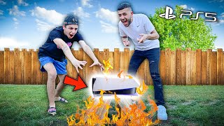 I Destroyed FaZe Rug's BRAND NEW PS5...