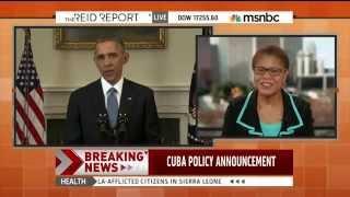 MSNBC: Rep. Karen Bass discusses Cuba on the Reid Report