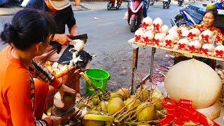 Khám phá từ A đến Z công đoạn 'làm đẹp' cho dừa ở Sài Gòn | street food saigon
