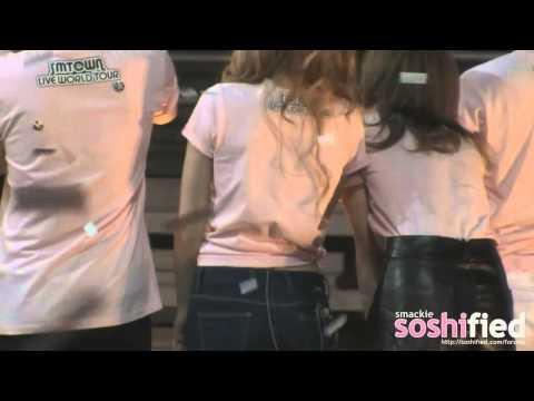 120520 Baekhyun & Taeyeon - SMTown LA Ending