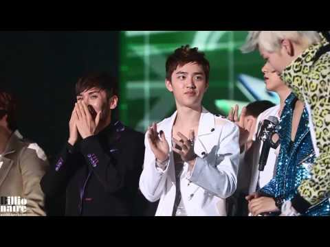 [직캠] 120829 KBS Music Bank Songdo - D.O. Sehun RUN TO YOU