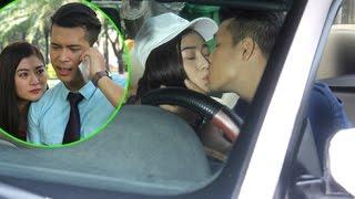 Trương Thế Vinh say đắm hôn Thanh Trúc trên xe hơi(Tin tức Sao Việt)