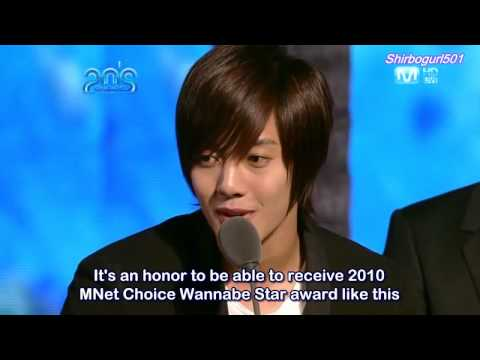 [Eng Sub] SS501 Kim Hyun Joong Acceptance Speech at |\/||\|ε+ 2os Ch0|cε A\/\/@r|)s