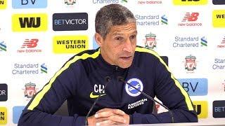 Liverpool 4-0 Brighton - Chris Hughton Full Post Match Press Conference - Premier League