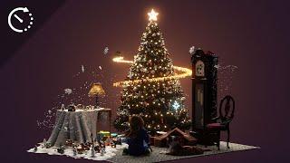 Christmas Spirit   Minecraft Timelapse