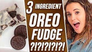 3 Ingredient Oreo Fudge?! | 3 Items Or Less