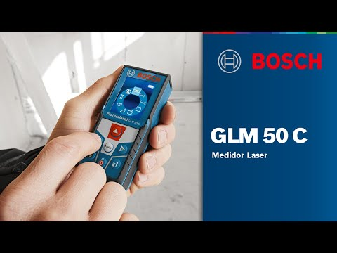 Trena Digital À Laser De 0,05 À 50 Metros GLM 50 C Bosch - Vídeo explicativo