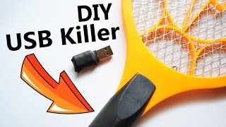 USB Killer made from Mosquito Killer Racket 🔥
