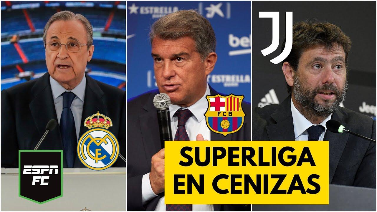REAL MADRID, BARCELONA Y JUVENTUS, SOLOS. ¿Ha muerto definitivamente la Superliga Europea? | ESPN FC