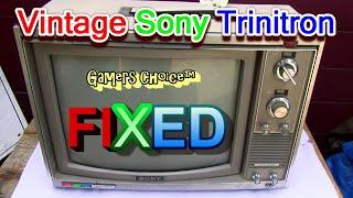 FIXED Sony Trinitron CKV 171 Sound Pt3 Commercial Vintage Color Television