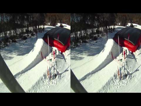 Thredbo in 3D - 3D GoPro Snowboarding movie, August 2010