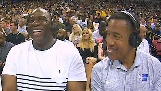 Magic Johnson On LeBron James Joining Lakers and Signing Him To Beat The Golden State Warriors