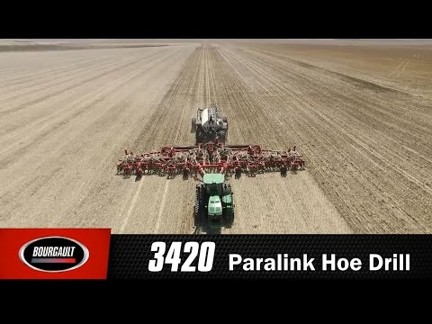Bourgault 3420 Paralink Hoe Drill - 80 & 100 foot Seeding Systems