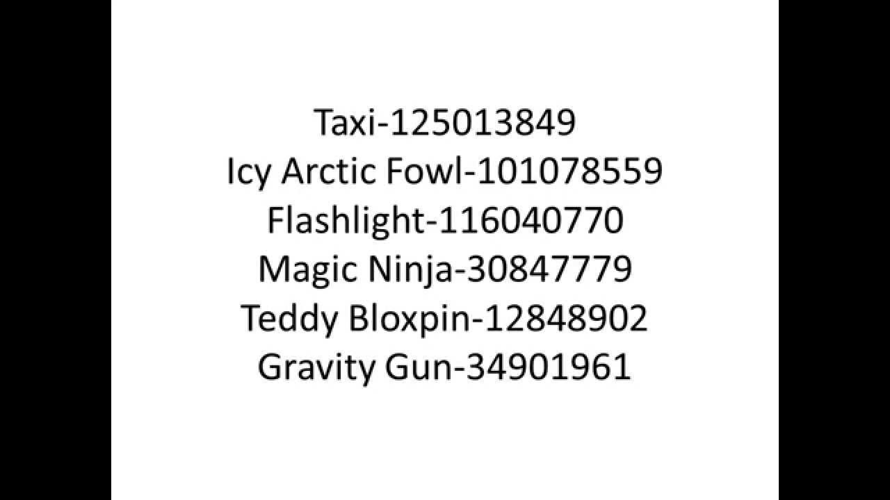 roblox gear codes 170