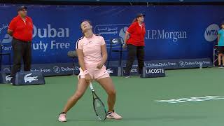 Highlights: WTA SFs - Kasatkina d. Muguruza